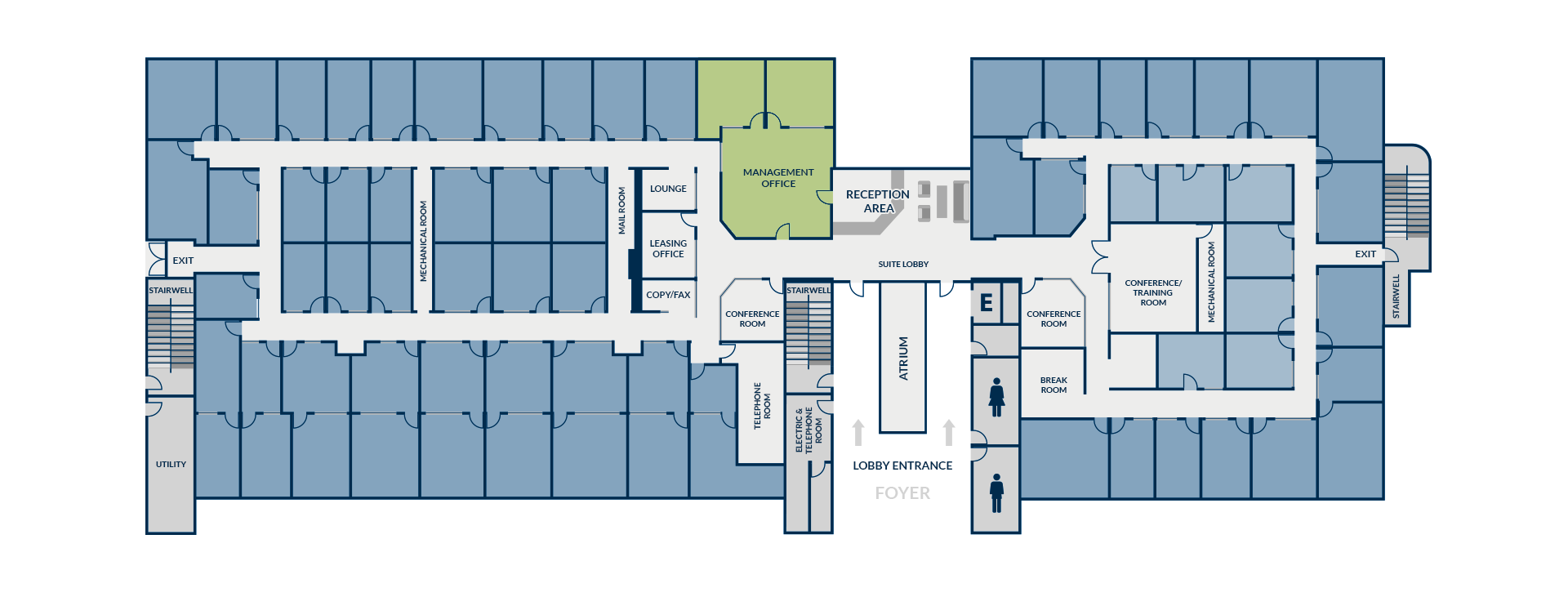 Executive Suites Floor Plan