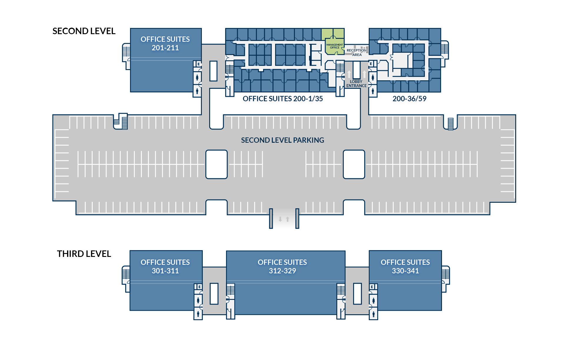 Executive Suites Floor Plan Second Floor